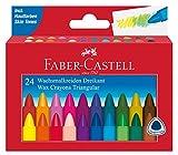 Faber-Castell 120024 - Dreikant Wachsmalkreide 24er Kartonetui hergestellt von Faber-Castell