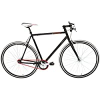 "KS Cycling Essence RH - Bicicleta de fitness, color negro, ruedas 28"", cuadro 59 cm"