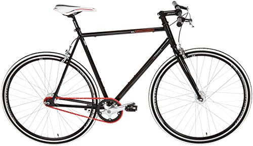 KS Cycling Fahrrad Fitness-Bike Single Speed Essence RH 56 cm, Schwarz, 28, 397B