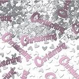 Amscan International Confetti Christening, Pink