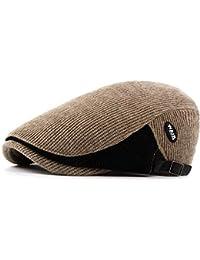 986788b152b29 SRY-Tiene Sombrero de Gorro de Lana de Punto Retro para Hombre Gorras de  Taxi Retro Beret 2019 Periódico de algodón Bonete para Mujer…