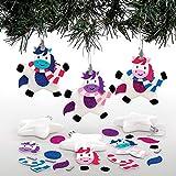 Baker Ross Kits de Boules de Noël Licornes en étoile (Paquet of 6) - Loisirs créatifs de Noël pour Enfants
