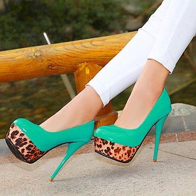 Moda Donna Sandali Sexy donna caduta tacchi tacchi PU similpelle / Esterni / abito / Casual Stiletto Heel altri verde / rosso / bianco a piedi White
