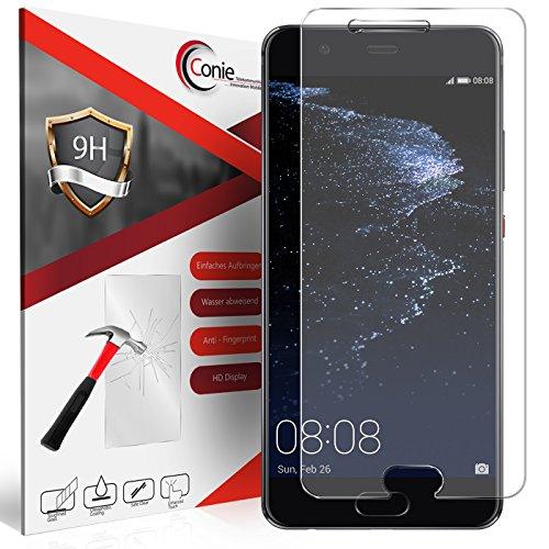 Conie 9H1078 9H Panzerfolie Kompatibel mit Huawei P10 Plus, Panzerglas Glasfolie 9H Anti Öl Anti Fingerprint Schutzfolie für P10 Plus Folie HD Clear