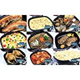 MSE Titanium Double Sided Nonstick Double Pan, Omelette Pan, Flip Pan, Square, Dishwasher Safe Pan
