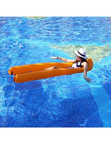 HGHFH Schwimmende Reihe Pool Floats Wind Inflated Aufblasbares Wasserbett Spring Pool Floating Mesh Floaties Wasser Air Lay Bag, Grün