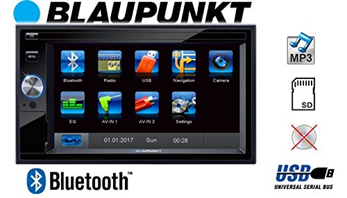 Autoradio-Radio-BLAUPUNKT-Santa-Cruz-370-Bluetooth-SD-USB-62-TFT-Display-Touch-Einbausatz-Einbauzubehr-Einbauset-fr-Audi-A4-B7-Symphony-Bose-JUST-SOUND-best-choice-for-caraudio