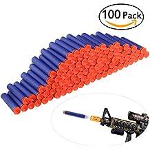 ULTNICE 100 Piezas Foam EVA Ventosa Recargado Balas para Maverick Rev-6 N-strike Nerf Blaster Pistola(azul)