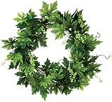 Melrose International Lush Green Maple Leaf Wreath, 22-Inch