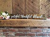 Monsety Grateful Thankful Blessed Schild Türschild Türschild Hauseinweihung Geschenk Hochzeit Schild Holz Dekor Schild mit Zitaten Schild Geschenk Innen