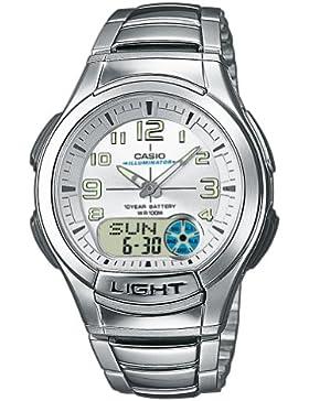 Casio Herren-Armbanduhr Analog Edelstahl, Silber, AQ-180WD-7BVES