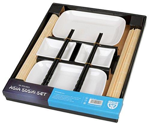 GrÄwe® asia - set per sushi per 2 persone, 10 pz, con bacchette