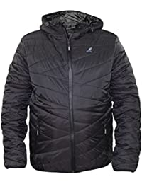 New Mens Kangol BrandQuilted Light Padded Concealed Zip Casual Warm Coat Jacket
