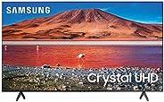 Samsung 55 Inch TV Smart Crystal UHD 4K processor Flat AI Upscale Motion Rate 100 PQI 2000 HDR10+ Mega Contras