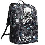 Cosstars Tokyo Ghoul Anime Rucksack Schulrucksack Backpack Karierter Streifen Schultasche