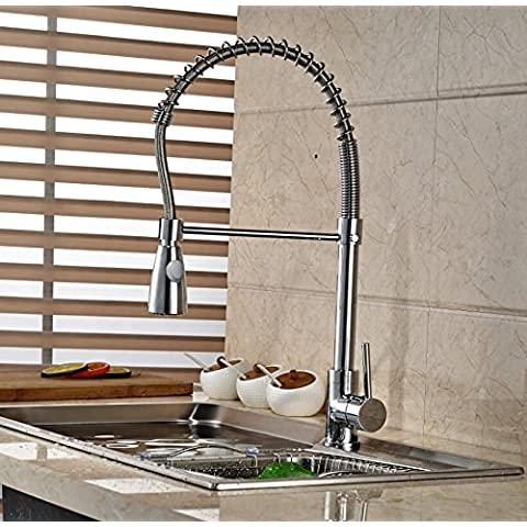 FEI&S Deck acqua per montaggio a cascata di potenza il lavandino del bagno rubinetto con cambio colore luci a LED beccuccio di vetro, Cromo lucido