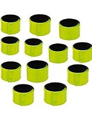 Eduplay 130138 - Juego de 2 cintas reflectantes, 33.5 x 2.75 cm, color verde lima