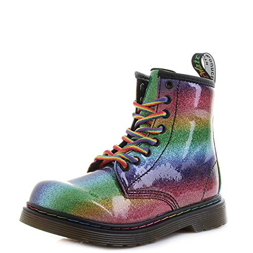 Dr. Martens 1460 Ombre Glitter Junior Rainbow Stiefel-UK 11 Kinder