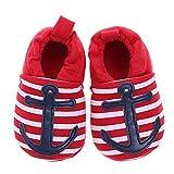 Domybest Anker-Muster-Säuglings-Baby Beschuht Weiche Winter-Warme Schuhe Erste Wanderer-Schuhe