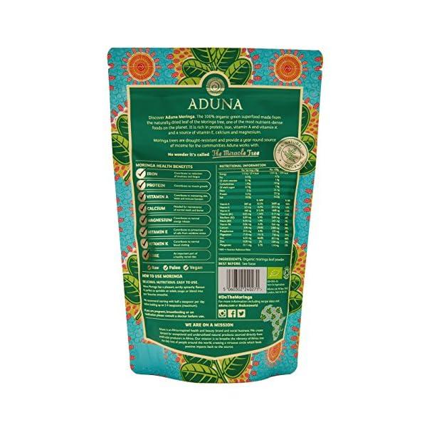 Aduna Organic Moringa Superleaf Powder 275g 4