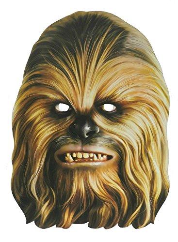 Kopf Chewbacca Kostüm - Star Wars Party-Maske aus hochwertigem Karton Funny Masks Pappe Chewbacca Darth Vader Stormtrooper, Variante:Chewbacca