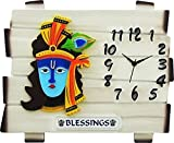 #5: Lord krishna beautiful Wall Decor Cum Clock With Blessings Wall Watch/Clock