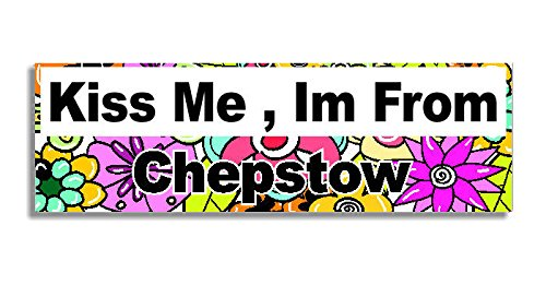 kiss-me-im-from-chepstow-car-sticker-sign-auto-adesivi-decal-bumper-sign-5-colours-flowers