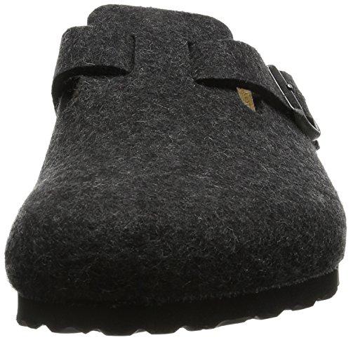 Birkenstock Classic Boston Wolle Unisex-Erwachsene Clogs Grau (Anthrazit)