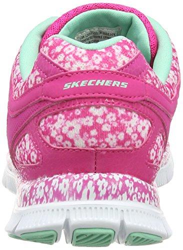 Skechers Flex Appeal Island Style, Multisports extérieure Femme Rose (Hot Pink)