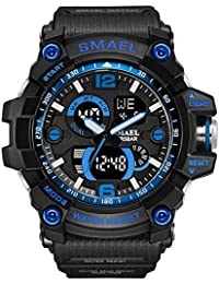 Military Watch, Big Face Sportuhr Armee Art Multifunktions Armbanduhr für die Jugend, Umfang 14CM-22CM