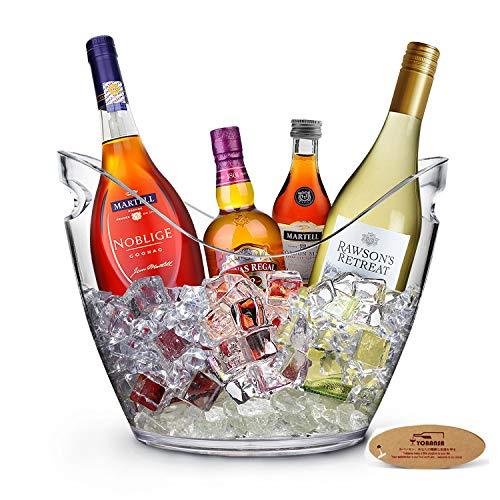 YOBANSA 8L Eimer Champagner Eimer,Eis Eimer, Acryl große Eiskübel, Küchenobst und Gemüse Vorratsbehälter Behälter(Clear)