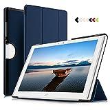 Acer Iconia One 10 B3-A50 Hülle, IVSO Ultra Schlank Slim zubehör Schutzhülle Hochwertiges PU Leder-mit Standfunktion Perfekt Geeignet für Acer Iconia One 10 B3-A50 10 Zoll 2018 Tablet PC, Blau
