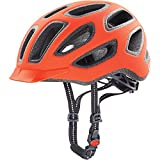Uvex Fahrradhelm City E, Neon Orange Mat, 57-61, 4101840417