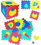 alles-meine.de GmbH 30 TLG. Set _ Puzzle Teppich aus Moosgummi -  Früchte - Obst & Gemüse & Formen  - 10 Matten aus Schaumstoff - zum Puzzeln / Puzzleteppich Eva - Spieleteppic..
