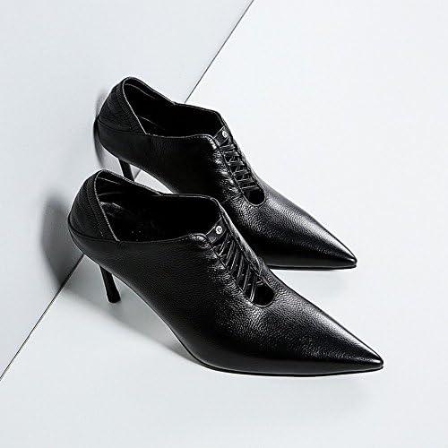 DIDIDD Las Zapatillas de Deporte de Moda Occidentales Usan Zapatos de Tacón Alto,UN,37