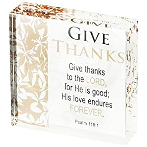 AngelStar 11226 give Thanks Clearly Inspired Plaque, 7,6 cm