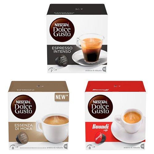 NESCAFÉ DOLCE GUSTO ESPRESSO INTENSO, ESPRESSO BUONDI e ESSENZA DI MOKA Caffè espresso confezione mista da 192 capsule