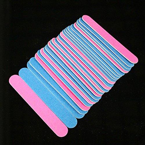 jhtceu Nagelfeilen 100 Stück Körnung Kunst Schleifpuffer Salon Maniküre Pediküre UV Polierer Werkzeug (Nagelfeilen Bulk)