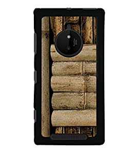 PrintVisa Designer Back Case Cover for Nokia Lumia 830 (Bamboo WallPattern Bamboo Pattern)