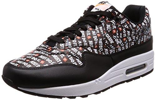Nike Herren Air Max 1 Premium Sneakers, Mehrfarbig (Black/White/Total Orange 001), 44.5 EU
