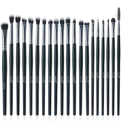 MSQ Eyeshadow Brushes Set 20pcs Makeup Eye Brushes Eyeshadow Blending Brush Eyebrow Eyeliner Lip Brush Beauty Brushes, Best for Gifts - Black
