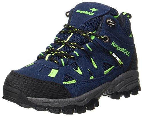 Hi Schuhe (KangaROOS Unisex-Kinder Himapeak Hi Trekking-& Wanderhalbschuhe, Blau (Dk Navy/Lime), 39 EU)