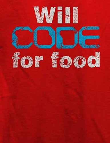 Will Code For Food Vintage T-Shirt Rot