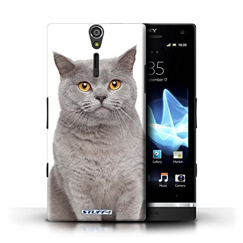 Kobalt® Imprimé Etui / Coque pour Sony Xperia S/LT26i / American Shorthair conception / Série Espèces de chats Bleu britannique
