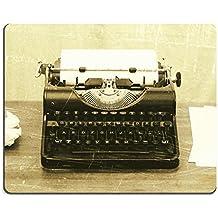 luxlady Mousepads Close Up de una antigua máquina de escribir con papel, diseño vintage de imagen 28129919personalizada Art ordenador de sobremesa Gaming Mouse Pad