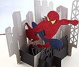 BC Worldwide Ltd Handmade 3D pop-up Pop-up-Karte Spider Man Hollywood Film Film Held Geburtstag Vatertag Hochzeit Jahrestag Muttertag Ostern Schule Einschulung Abschluss Thanksgiving Halloween Weihnachtskarte Geschenk für ihn ihre Freund Familie