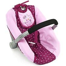 Bayer Chic 2000 708 29 - Muñeca de asiento de coche, puntos de mora, violeta / rosa