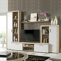 HomeSouth - Mueble de Comedor, Salon Modelo Nobel, Acabado Color Cambria y Blanco, Medidas: 263 x 202 x 40 cm Fondo.