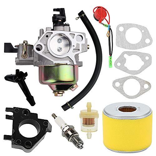 Wellsking Vergaser 16100-ZF6-V01 für Honda GX340 GX390 13HP 11HP 16100-ZF6-V00 Toro 22308 22330 Dingo Rasenmäher Wasserpumpen mit 17210-ZE3-505 Luftfilter Gas Kraftstofftank Gelenkfilter