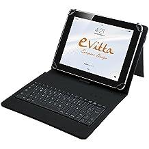"""E-Vitta EVUN000506 - Funda con teclado para tablet de 7""""-8"""", con USB, color negro"""